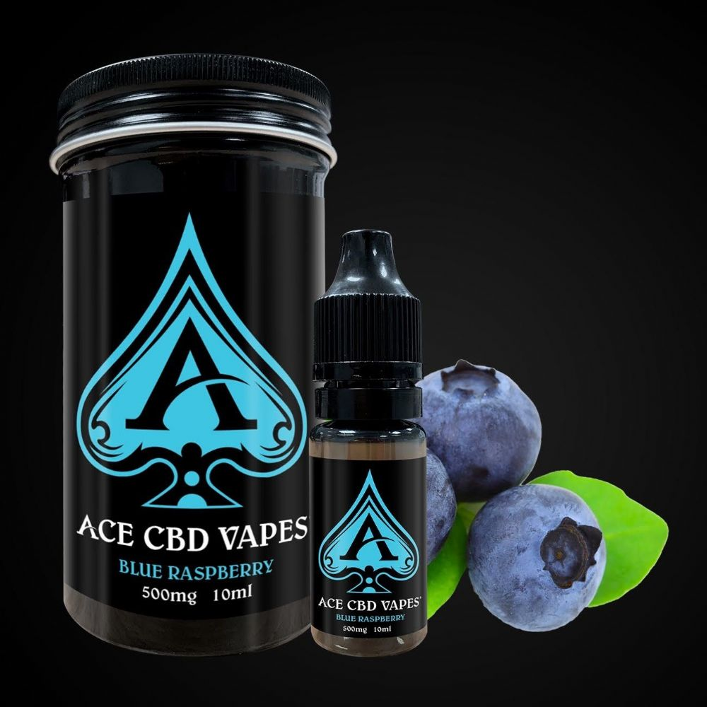 ACE CBD BLUE RASPBERRY VAPE 500MG (10ml)
